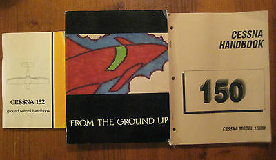 3 Pilot Training Reference Books Cessna 150 Cessna 152 From The Ground Up
