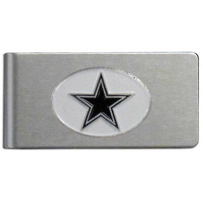 Dallas Cowboys Brushed Metal Money Clip NFL Football Licensed Product