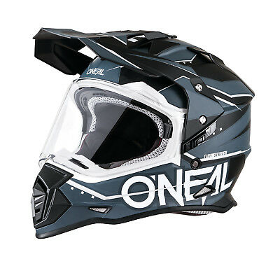 2018 O'Neal Helmet Sierra II 2 Slingshot Black Grey Off-road Motocross ATV