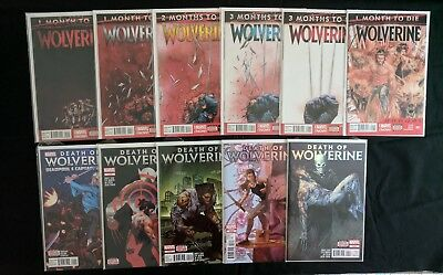 Death of Wolverine #1-4 and Wolverine #8-12 with Annual Complete Marvel
