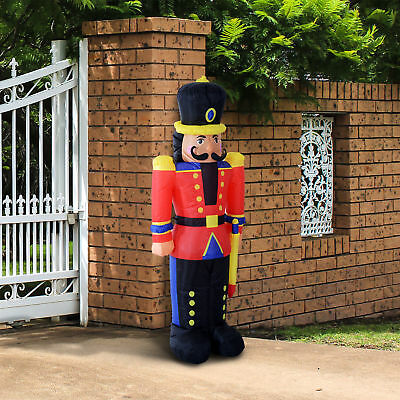 6FT Inflatable Christmas Jumbo Toy Soldier Holiday Outdoor Yard Decor LED Lights