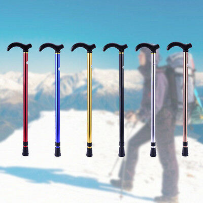 Adjustable Aluminum Metal Walking Cane Travel Stick With Comfortable Gel Hand