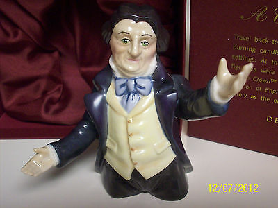 """DEPT. 56 MR. FEZZIWIG """"A CHRISTMAS CAROL"""" Candle Snuffer Candle Crown Coll. MIB"""