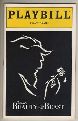 "Susan Egan & Terrence Mann   ""Beauty and the Beast""   Playbill  1994  OBC"