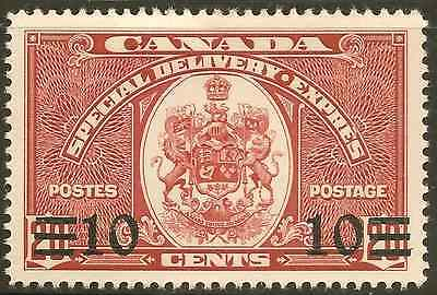 Canada E9 Mint Hinged (Hinge Remnant) 10c O/P Special Delivery -Cat $8.00
