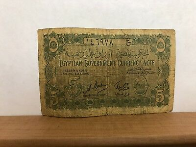 Egypt Government Currency Note 5 Piastres 1940 P-163