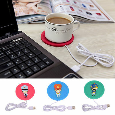 Cute USB Warm Cup Heating Mat Pad Electric Insulation Coaster for Coffee Tea New