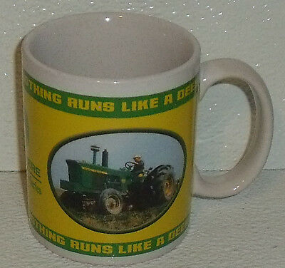 John Deere Mug Cup Farm Equipment Tractor 3.75""