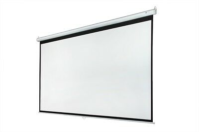 "Homegear 120"" 16:9 Manual Pull Down Wall Mounted Projector Screen Matt White"