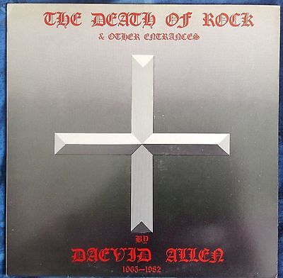 "DAEVID ALLEN - The Death Of Rock & Other Entrances+ poster - 12"" Mini LP HAI 201"