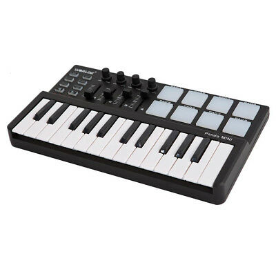 Worlde Panda Portable 25-Key USB Keyboard Drum Pad MIDI Controller New JA3M S5O3