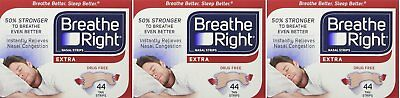 Breathe Right, Extra Strong Nasal Strips One Size Fits All 44 Count pnGmZ Pack 3