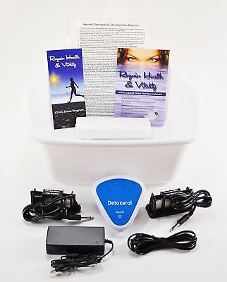 Ionic Foot Cleanse Detox Foot Bath. Detox Foot Spa Machine. Unit for Home Use.