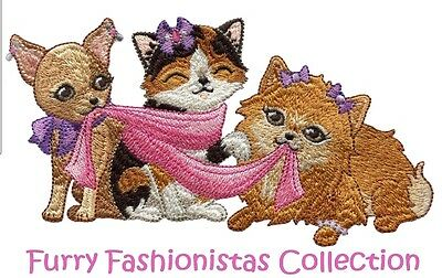 Furry Fashionistas  Collection - Machine Embroidery Designs On Cd
