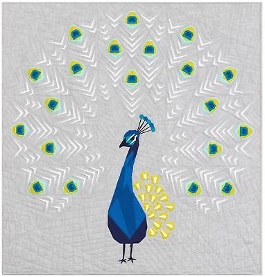 Violet Craft  - The Peacock Abstractions Quilt Pattern.