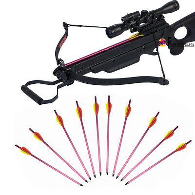 """10X 15"""" Metal Arrow For 150 180 lbs Pistol Crossbow Bolts Hunting Shooting Army"""