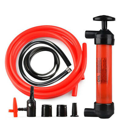 Hand Transfer Siphon Syphon & Air Pump Fuel Oil Water Diesel Fluid Extractor