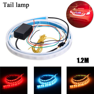 3 Color 72 LED Car Tail Trunk Tailgate Strip Light Brake Driving Signal Lamp