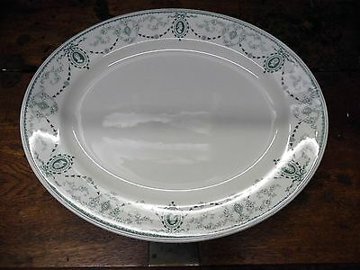 Large Antique Meat Plate by John Maddock & Sons , Cameo Design c1895