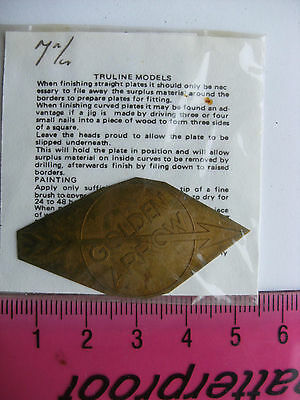 Truline Models 7mm O Gauge Model Railway Brass Nameplate Golden Arrow (Type A)