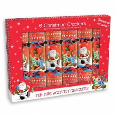 6 Christmas Activity Crackers Kids Chilren Gift Joke Xmas Party Fun Festive Play