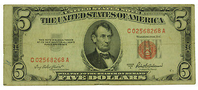 Lot Of (1) One 1953 A Series $5 United States Note.Circulated. SN# C02568268A