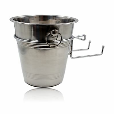 Stainless Steel Ice Bucket Holder Wine Champagne Cooler Silver Table Mounted