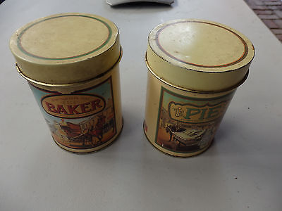 Two Collectable  Maxwell House  tins .  Baker and Pie.