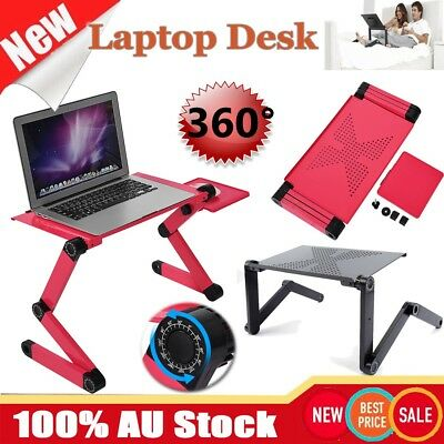 360° Adjustable Desk Folding Laptop Computer Notebook Table Stand Bed Tray AU