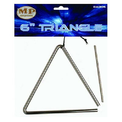 Mano Percussion Mp Em306 6 Inch Triangle W/ Beater Powerbeat Brand New!