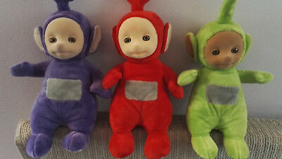 """TELETUBBIES - TALKING 12"""" SOFT TOYS - Choose between Tinky Winky, Dipsy or Po"""