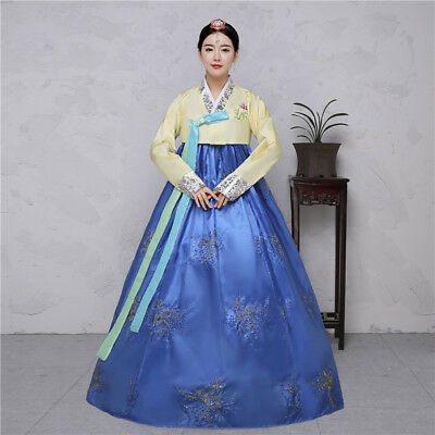 Traditional Court Korean Women Costume Cosplay Dress Gown Robe Dance Clothing sz