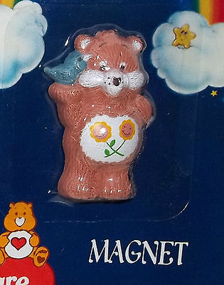 Vintage Care Bear Magnet FRIEND Bear MINT on Card 1984