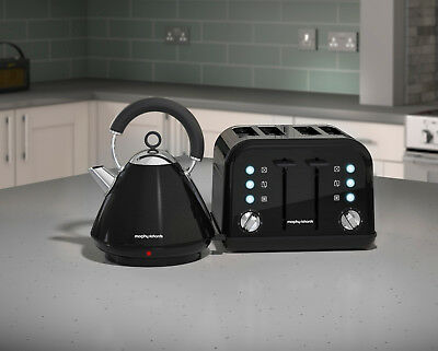 Morphy Richards Accents Black Kettle and Toaster Set