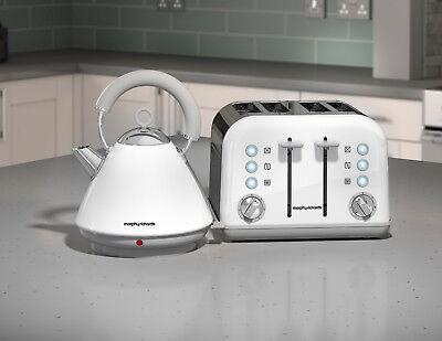 Morphy Richards Accents White Kettle and Toaster Set
