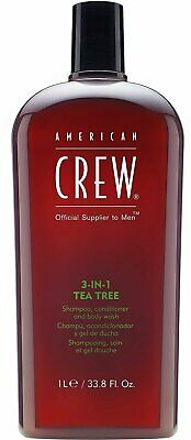 American Crew 3-In-1 Shampoo Conditioner & Bodywash, Tea Tree, 33.8 Ounce