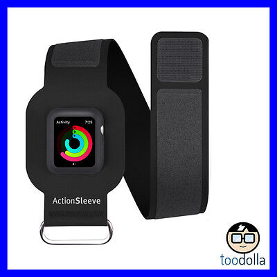 TWELVE SOUTH ActionSleeve sport exercise armband, Apple Watch 38mm, Large, Black