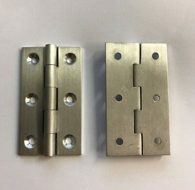 FTD Satin Chrome Decorative Finial Cabinet Door 50mm x 28mm Butt Hinges