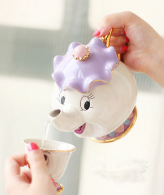 Cartoon Beauty And The Beast Teapots Mugs Mrs. Potts Chip Tea Pot and Cup Set/
