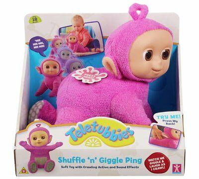 Tiddlytubbies Ping Teletubbies Shuffle 'N' Giggle Crawling Plush Toy With Sound