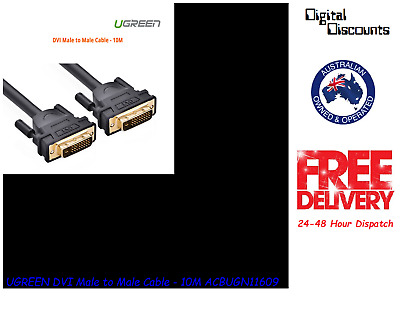UGREEN DVI Male to Male Cable - 10M ACBUGN11609