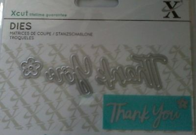 THANK YOU - Xcut / Docrafts Mini Sentiment Die - free p&p on any additional dies