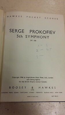 Prokofiev: Symphony Number 5: Pocket Music Score