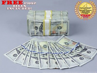 Prop Money Fake Money New Style AGED $100 - $51K Blank Fill Bundle 10 FREE Bills