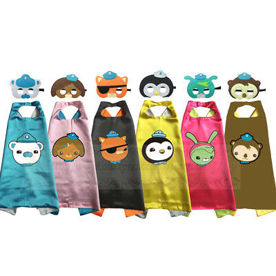 Superhero Octonauts Cape & Mask Costume Kids Birthday Favor Kwazii Barnacles
