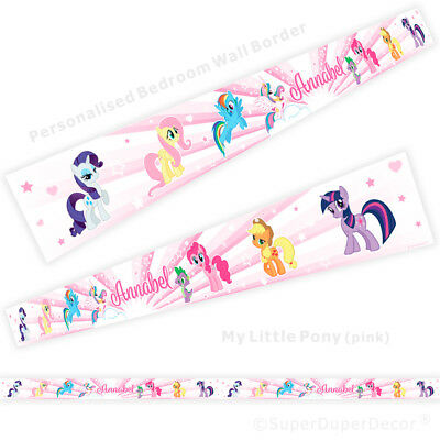 MY LITTLE PONY bedroom WALL BORDER - personalised wallpaper strips girls room