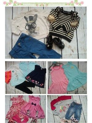 77x MASIVE NEW USED BUNDLE OUTFITS BABY GIRL 6/9 MTHS 9+PHOTOS IN DESCRIPTION(7)