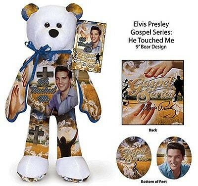 """Elvis Presley 9"""" Beanie Bear """"He Touched Me"""", NEW"""