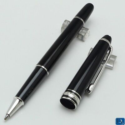 Meisterstuck Classique Rollerball Pen Black Silver Clip High quality