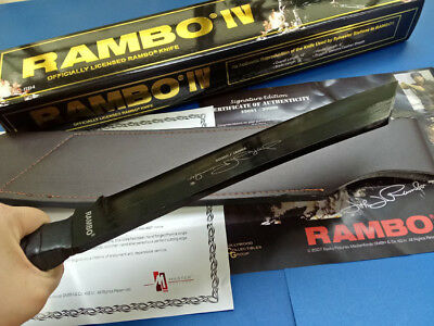 """17"""" 7Mm ! Rambo First Blood Part Iv Licensed Sign Hunting Camping Survival Knife"""